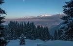 Обои Зима высоко в горах