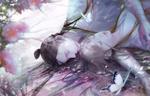 Обои Спящие на земле парень и девушка, by icelog