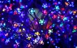 Обои Неоновые лампочки в форме цветов