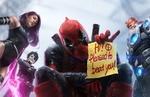 Обои Персонажи из фильма Deadpool / Дэдпул (HI! Pleased to beat you!)