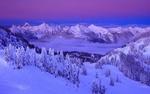 Обои Горы на закате в национальном парке Норт-Каскейдс / North Cascades в штате Вашингтон, США / Washington, USA, фотограф Randall J. Hodges