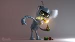 Обои Bender / Бендер из мультсериала Futurama / Футурама, by Guruith