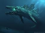 Обои Leviathan / Левиафан из игры Magic The Gathering, by Greg Rutkowski