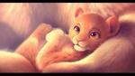 Обои Маленький король - львенок лежит у своей мамы, by Imalou