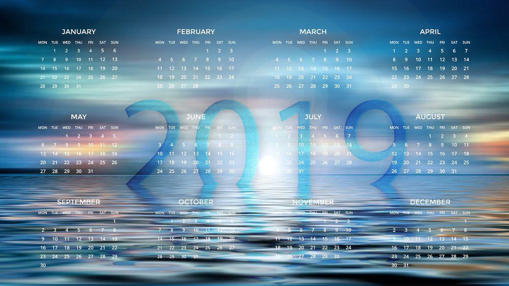 обои на рабочий стол осень календарь 2019 15447
