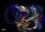 Обои Абстракция змеи с открытой пастью, by MixeRBink
