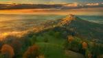 Обои Панорама осенью с видом на Hohenzollern Castle, Germany / Замок Гогенцоллерн, Германия, фотограф Krzysztof Browko