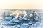 Обои Панорама зимней деревеньки, фотограф Александр Смирнов