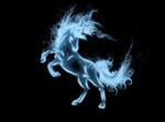 Обои Призрачный дух лошади на темном фоне, by Tribalchick101