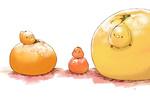 Обои Апельсин, мандарин и грейпфрут и три птички