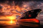 Обои Корабль на фоне заката, фотограф Manuel Roger