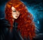 Обои Merida / Мерида с голубыми глазами из мультфильма Brave / Храбрая сердцем, by fidgot