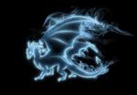 Обои Призрачный дух дракона на темном фоне, by Tribalchick101