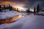 Обои Зима на озере Tipsoo / Типсу, Национальный парк Маунт-Рейнир, by Doug Shearer