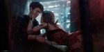 Обои Парень с любовью и грустью смотрит на девушку-киборга, проткнув ее кинжалом, by tian zi