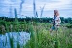Обои Девушка на рыбалке, by Alexandr Ivanov