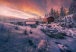 Обои Зима в Strоmsoddbygda, Norway / Стремсоддбыгда, Норвегия. Фотограф Ole Henrik Skjelstad