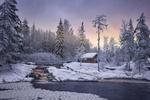 Обои Зимнее утро над рекой Тохмайоки, Карелия, фотограф KrubeK