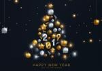 Обои Цифры 2019 на абстрактной новогодней елке (Happy new year / С Новым годом, Joy to the world / Радость миру)