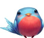 Обои Толстенькая голубая птичка, by Holivi