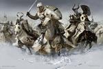 Обои Атака крестоносцев из Тевтонского ордена на Чудском озере, by Mariusz Kozik