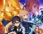 Обои Асуна Юуки / Yuuki Asuna и Кирито / Kirito / Казуто Киригая / Kirigaya Kazuto и др. персонажи из аниме Sword Art Online / Мастера Меча Онлайн Алисизация