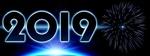 Обои На темном фоне цифры 2019 и фейерверк, by Dorothe