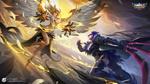 Обои Девушки-ангел и демон в бою, арт к игре Mobile Legends, by exia xiaotong