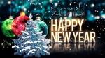 Обои Праздничный фон с елкой и новогодними шарами, (2019 Happy New Year / cчастливого нового года)