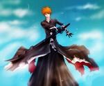 Обои Ichigo Kurosaki / Ичиго Куросаки в форме Bankai / Банкай арт аниме Bleach / Блич