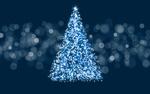 Обои Новогодняя елка на фоне боке
