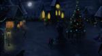Обои Люди на льду среди домов и большой наряженной ели, by SAibIRfan