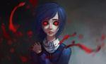 Обои Touka Kirishima / Тока Кирисима из аниме Tokyo Ghoul / Токийский Гуль, by lenaskampararas