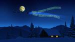 Обои Санта Клаус в небе на фоне полной луны принес 2019 год, забирая 2018, (Merry cristmas, happy new year / c рождеством и с новым годом)