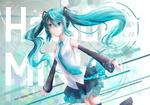 Обои Vocaloid Miku Hatsune / Вокалоид Мику Хацунэ, by blackmomo96