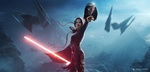Обои Девушка-джедай Mara Jade Skywalker / Мара Джейд-Скайуокер стоит с отрубленной головой Darth Vader / Дарт Вейдера из игры Star Wars / Звездные войны, by Antoine Collignon