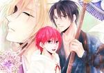 Обои Yona / Йона, Soo-Won и Hak Son с пикой из аниме Akatsuki no Yona / Рассвет Йоны, by Mizuho Kusanagi