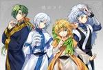 Обои Демоны Jae-ha, Kija, Shin-ah и Zeno из аниме Akatsuki no Yona / Рассвет Йоны
