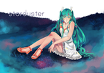 Обои Vocaloid Miku Hatsune / Вокалоид Мику Хацунэ (Starduster), by karasawr
