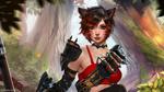 Обои Девушка-кошка из игры Final Fantasy / Последняя фантазия, by Alexandra Cvetkova & TigrSasha