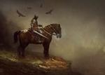 Обои Рыцарь крови на коне, by Bastien Lecouffe Deharme