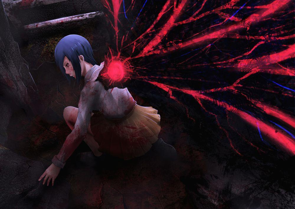 Обои для рабочего стола Kirishima Touka / Кирисима Тока из аниме Tokyo Ghoul / Токийский Гуль