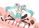 Обои Две Vocaloid Miku Hatsune / Вокалоид Мику Хацунэ, by 7-8jf