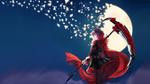 Обои Ruby Rose / Руби Роуз аниме RWBY / Красный, Белый, Черный, Желтый