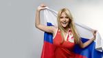 Обои Виктория Лопырева с Российским флагом
