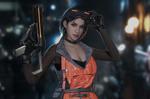 Обои Девушка с футуристическим оружием, by Ag2O