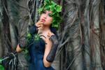 Обои Девушка Syalita Paramadina / Сялита Парамадина с венком и украшениями позирует у деревьев, by GA Photography