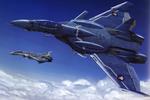 Обои Истребитель-трансформер VF-0D Valkyrie из аниме Макросс Зеро / Macross Zero, автор Tenjin Hidetaka