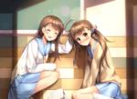 Обои Kosaki Onodera / Косаки Онодэра и Haru Onodera / Хару Онодэра из аниме Nisekoi:/Притворная любовь 2, by Onamae-kun
