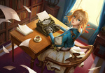 Обои Violet Evergarden / Вайолет Эвергарден из аниме Violet Evergarden, by wenfei ye